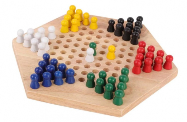 Șah chinezesc din lemn Checkers Game [2]