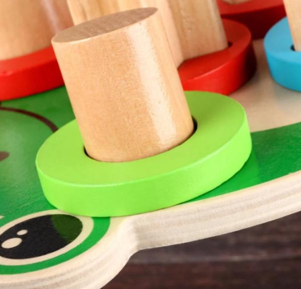 Jucarie din lemn de sortare și stivuire Broscuta [2]