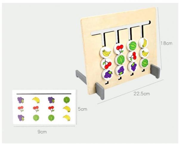 Joc Montessori de logică - Culori și fructe [2]