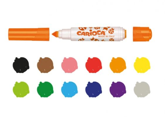 Carioca Stamperello cu varf dublu Set 12 culori [2]