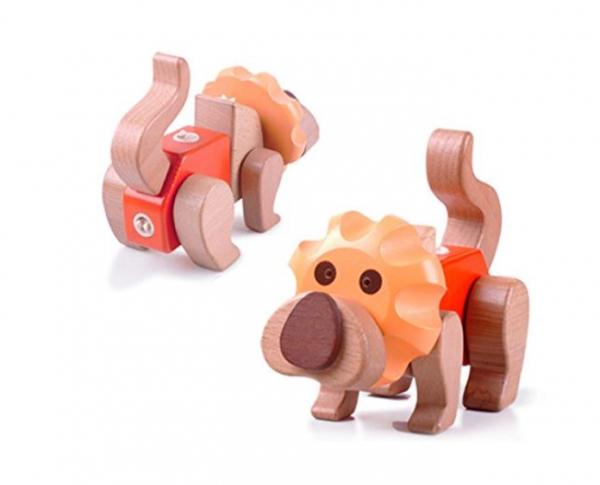 Puzzle 3D din lemn Leu [2]