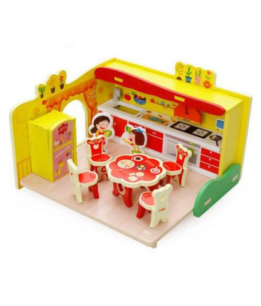 Puzzle Bucătărie 3D din lemn [0]