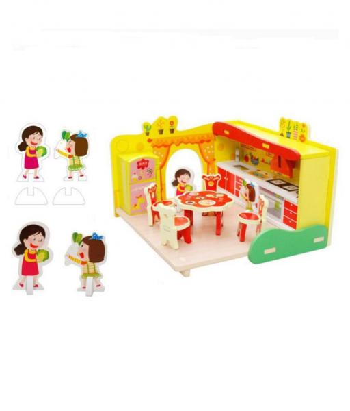 Puzzle Bucătărie 3D din lemn [3]