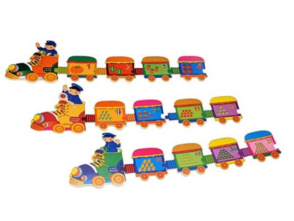 Puzzle Trenuleț din lemn Cifre [3]