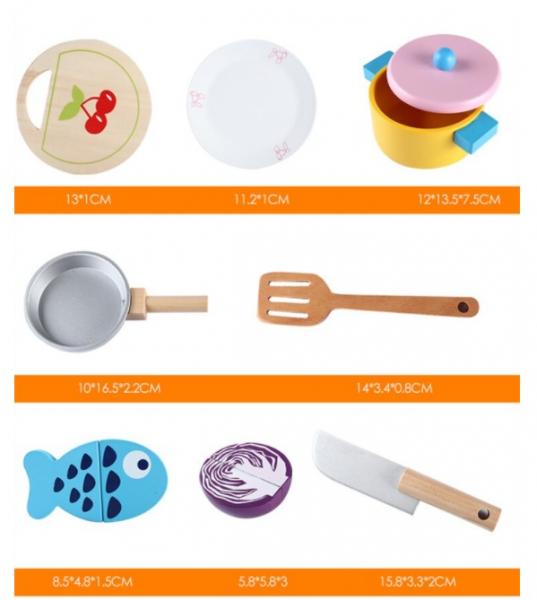 Joc de rol din lemn - Bucătărie cu legume [3]