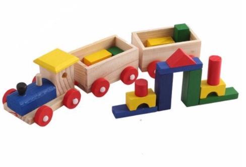 Trenulet și cuburi din lemn [0]