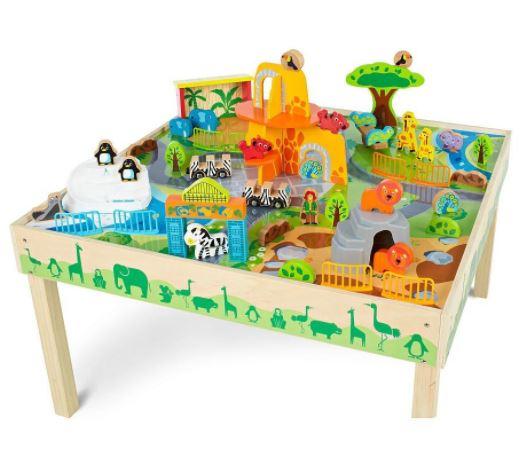 Masa de joacă, din lemn - Grădina zoologică [0]