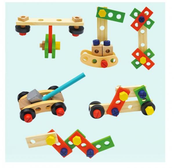 Trusă unelte din lemn pentru copii [4]