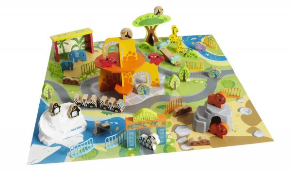 Masa de joacă, din lemn - Grădina zoologică [6]