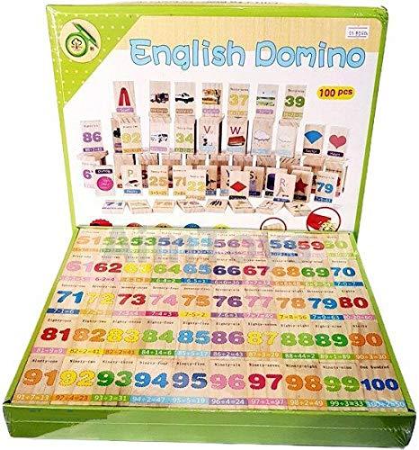 Joc educativ din lemn Domino în engleză [2]