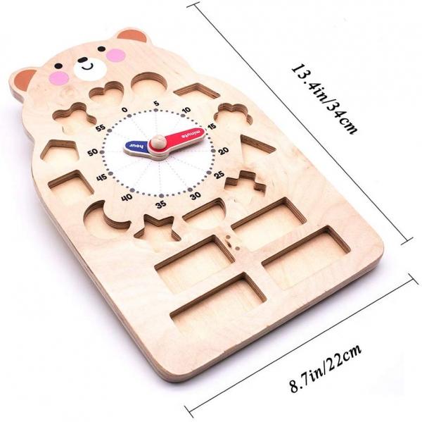 Ceas ursuleț cu forme geometrice și starea vremii [2]