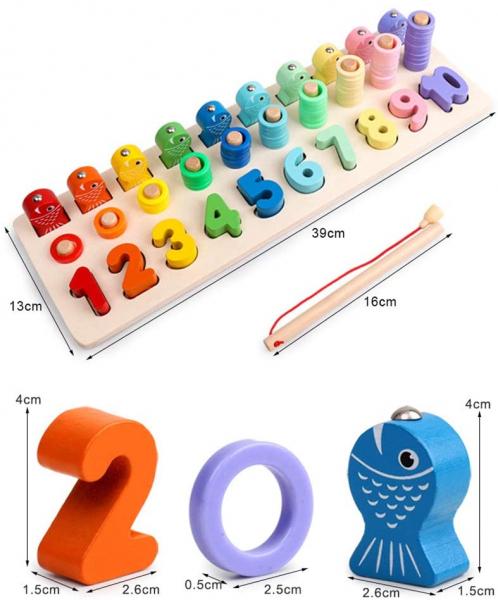 Tablă educațională tip Montessori 3 în 1 [5]