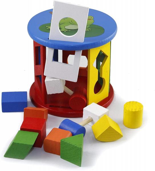 Jucărie din lemn sortare forme și culori [0]
