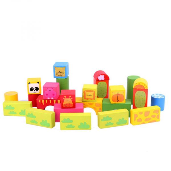 Set cuburi de lemn cu animale [1]