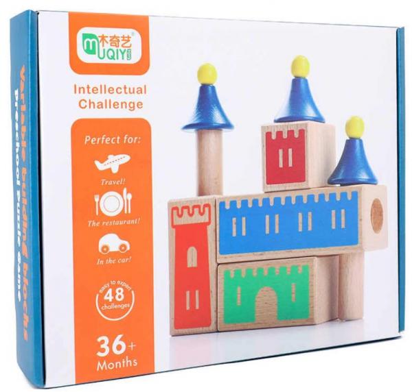 Joc de logica si constructie Castel din lemn [3]