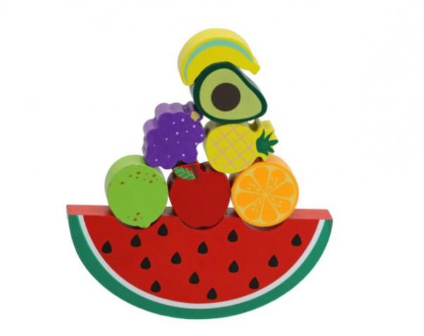 Joc de echilibru din lemn cu fructe [0]