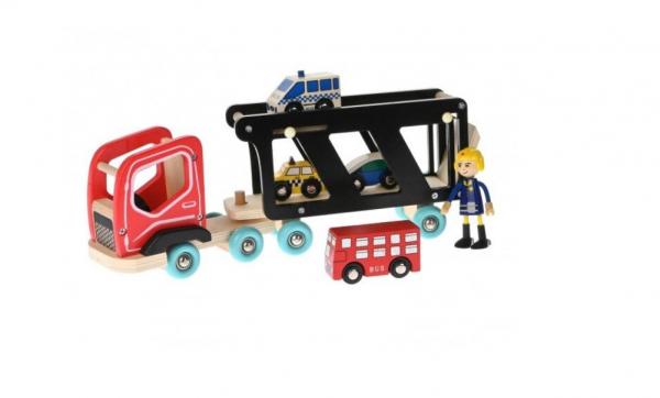 Camion cu platforma, sofer și masinute [2]
