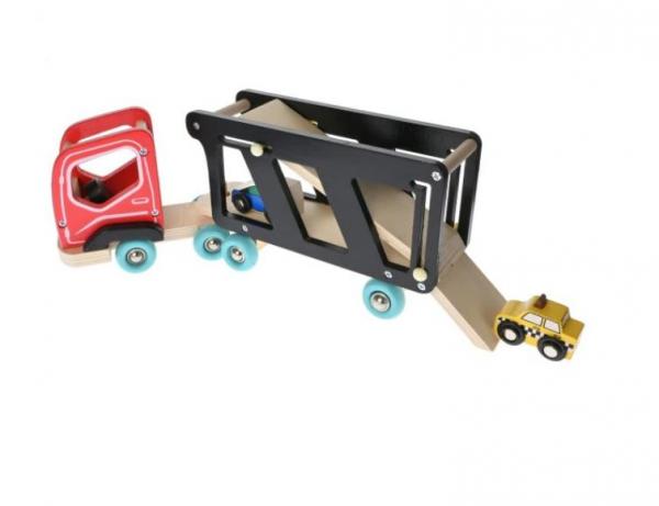 Camion cu platforma, sofer și masinute [1]