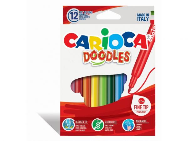 Carioca Doodles Set 12 culori [0]