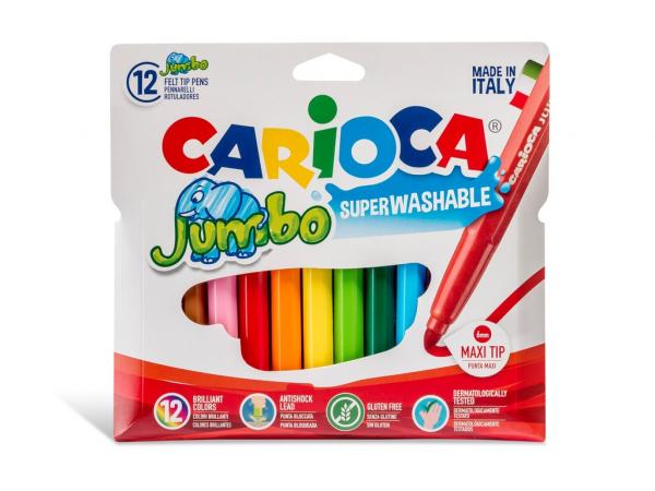 Carioci lavabile 12 culori/set Carioca Jumbo [0]