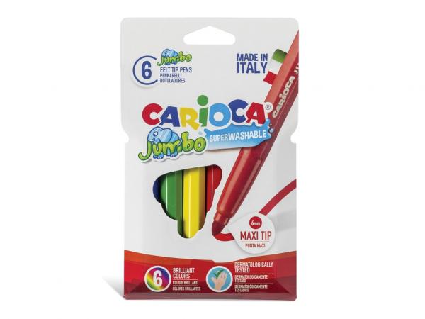 Carioci lavabile - 6 culori/set Carioca Jumbo [0]