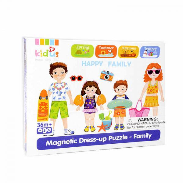Joc magnetic din lemn Îmbracă Familia [4]