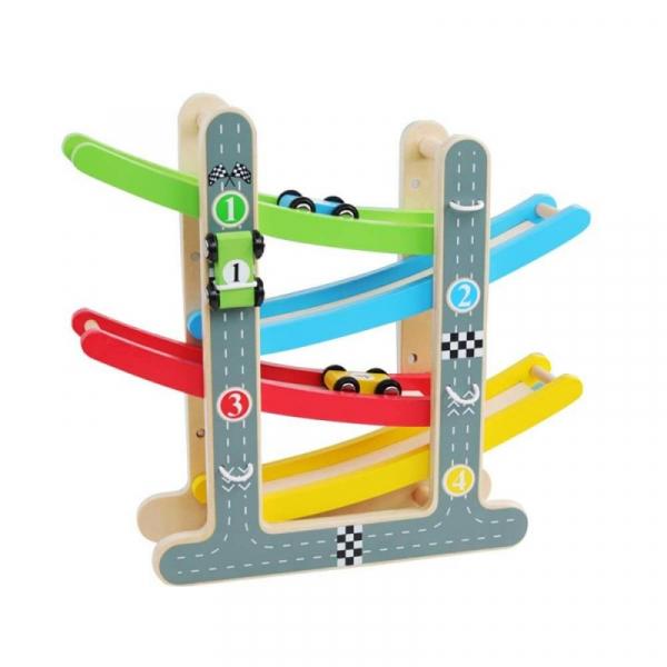 Rampă-Circuit cu mașinuțe din lemn [0]