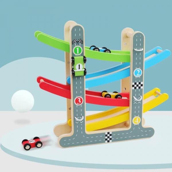 Rampă-Circuit cu mașinuțe din lemn [5]