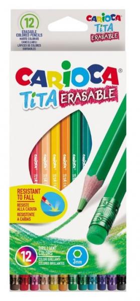 Creioane color Tita Erasable, 12 culori [0]