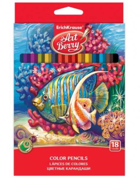Creioane color hexagonale ArtBerry, Set 18 culori [0]