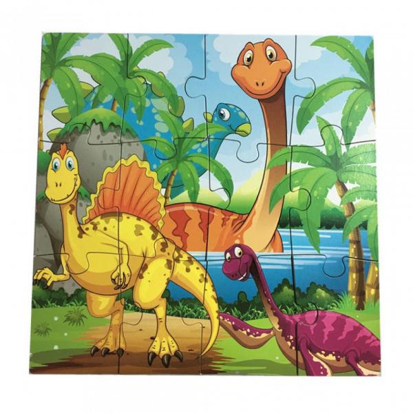 Puzzle din lemn 4 în 1 - Dinozauri [5]