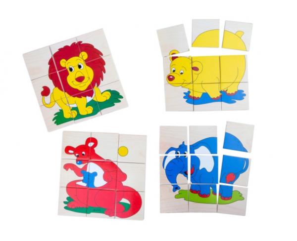 Set 4 puzzle-uri din lemn cu 9 piese [0]
