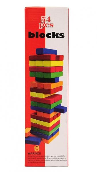 Jenga din lemn multicolor 54 piese [1]