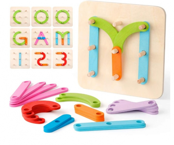 Placa Montessori Geoboard din lemn [0]