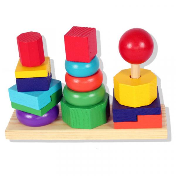 Turn tip Montessori din lemn cu 3 coloane [7]