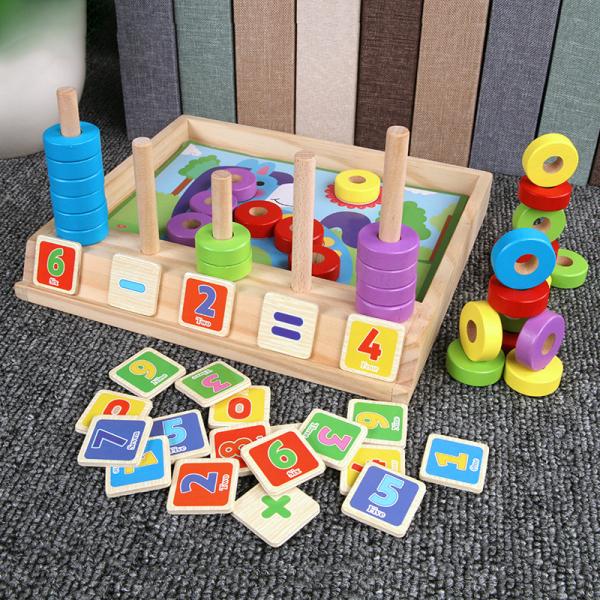 Joc educativ Numărătoare și Puzzle din lemn [2]