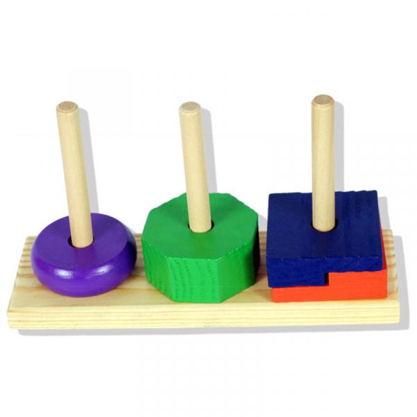Turn tip Montessori din lemn cu 3 coloane [4]