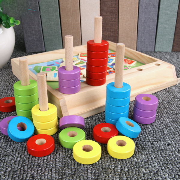Joc educativ Numărătoare și Puzzle din lemn [3]