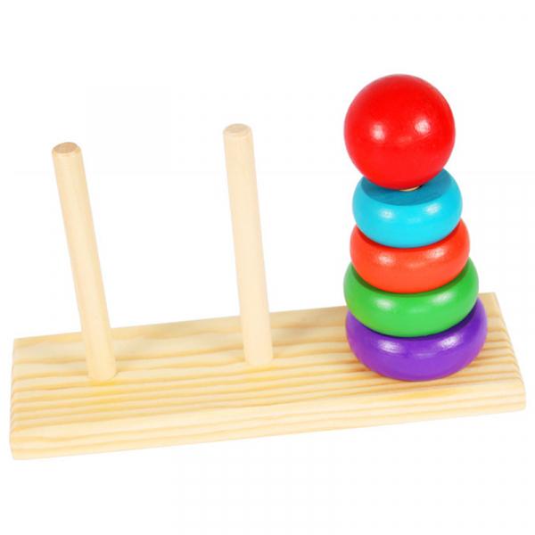 Turn tip Montessori din lemn cu 3 coloane [5]