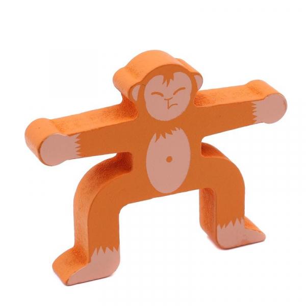 Joc din lemn Montessori de echilibru - Maimuțele [3]