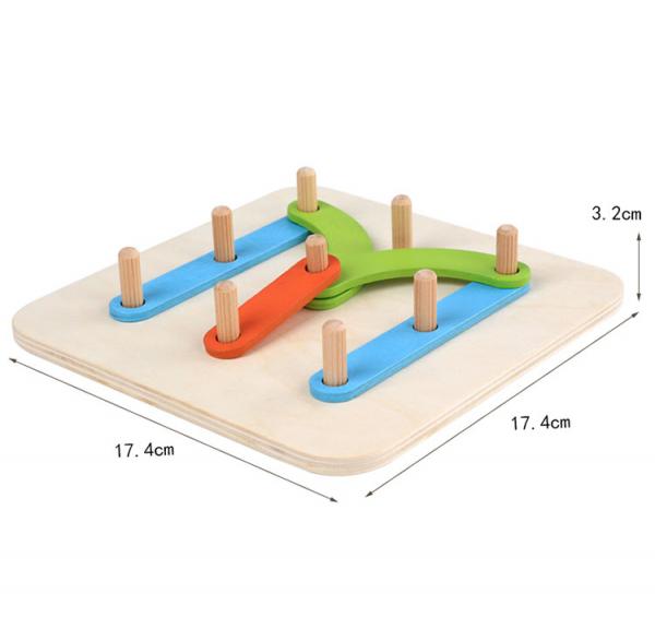 Placa Montessori Geoboard din lemn [4]