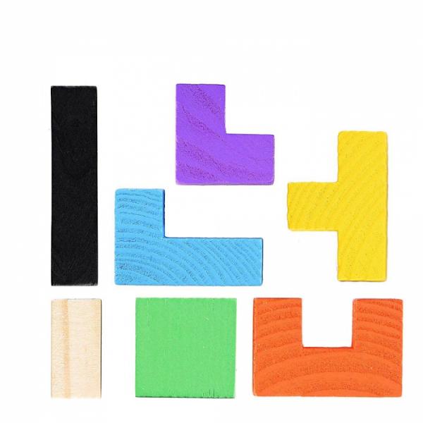 Joc logic Tetris din lemn [3]