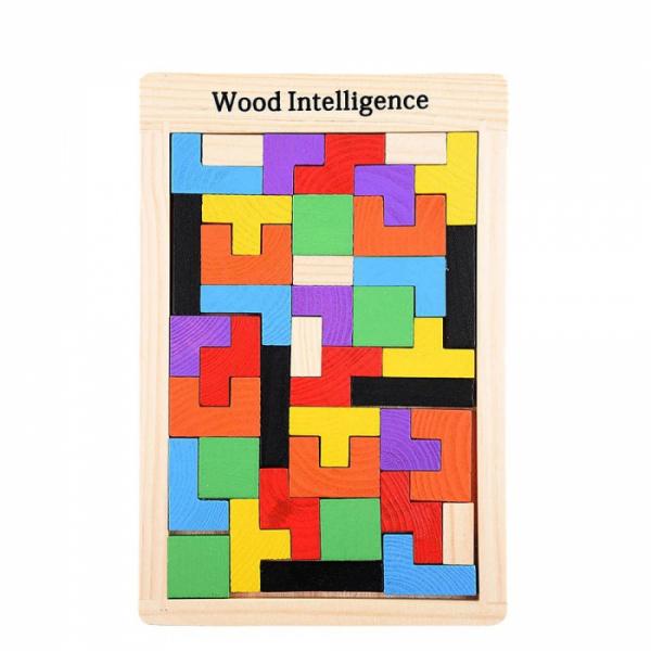 Joc logic Tetris din lemn [0]