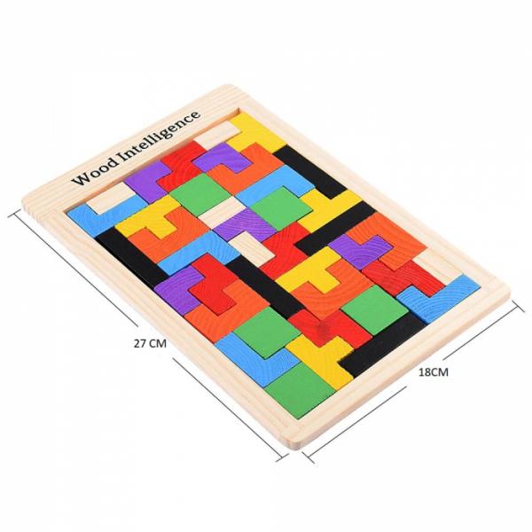 Joc logic Tetris din lemn [1]