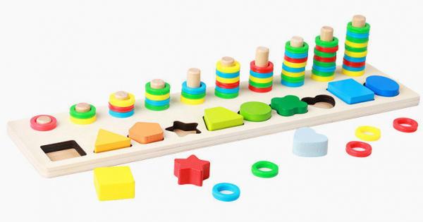 Joc din lemn tip Montessori Plansetă sortatoare [1]
