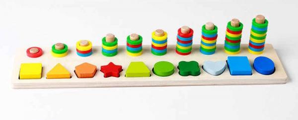Joc din lemn tip Montessori Plansetă sortatoare [2]