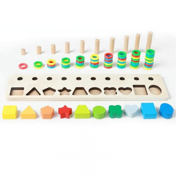 Joc din lemn tip Montessori Plansetă sortatoare [3]