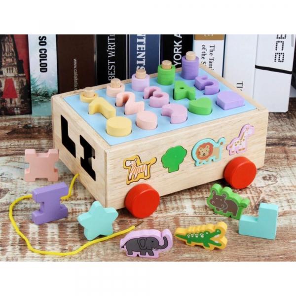 Jucărie din lemn - sortator numere, forme, animale [5]