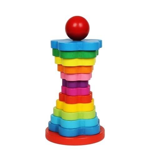 Turn stivuire din lemn tip Montessori 13 piese [0]