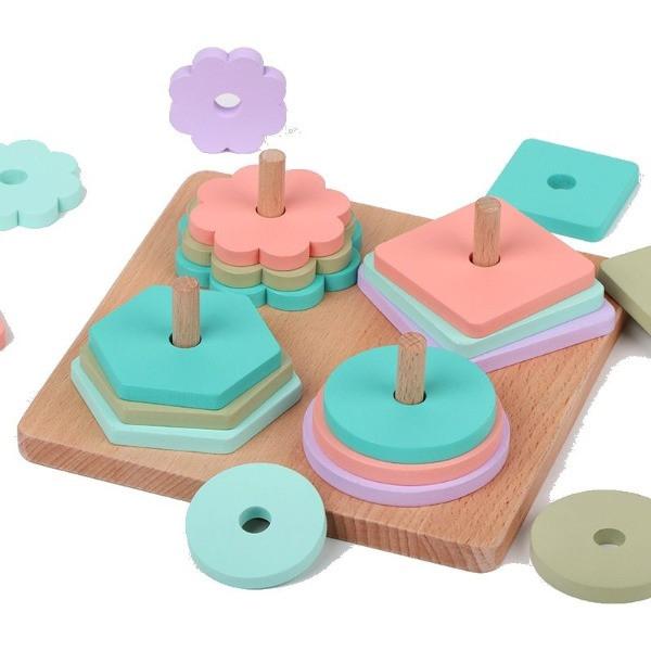 Jucărie educativă din lemn - Sortator forme geometrice [0]